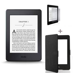 ЧЕТЕЦ ЗА Е-КНИГИ NEW 2015 Kindle Paperwhite III + Калъф + Стилус, 6 инча with Built-in Light, Wi-Fi - Includes Special Offers