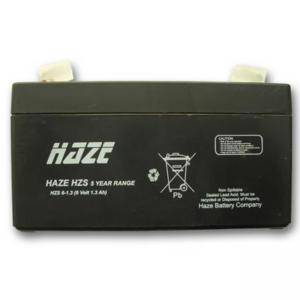 ОЛОВНА БАТЕРИЯ HAZE HZS6-1.3, 6V / 1.3AH- 98/25/52MM AGM, HAZE-6V-1.3-AGM