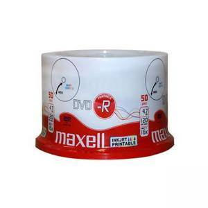 DVD-R 4.7Gb PRINTABLE MAXELL 50 бр. shrink wrapped, ML-DDVD-R-50PR