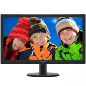 Монитор Philips 243V5LHSB, 23.6 Wide TN LED, 1 ms, 10M:1 DCR, 250 cd/m2, 1920x1080 FullHD, DVI, HDMI, Черен, 243V5LHSB/00