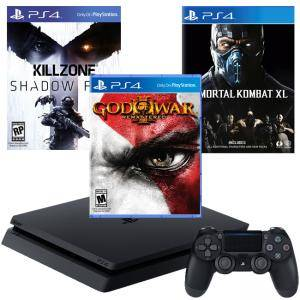 Конзола PlayStation 4 Slim 500GB Black, Sony PS4+Игра God of War 3 Remastered PS4+Игра Killzone Shadow Fall - Season Pass PS4+Игра Mortal Kombat XL PS