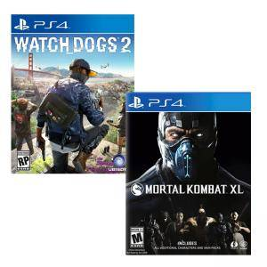 Игра Watch Dogs 2 за Playstation 4+Игра Mortal Kombat XL PS4
