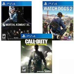 Игра Watch Dogs 2 за Playstation 4+Игра Mortal Kombat XL+Игра Call of Duty: Infinite Warfare за Playsation 4