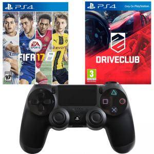Игра FIFA17 за PS4, Playstation 4+Игра DRIVECLUB PS4+Геймпад - Sony PlayStation DualShock 4 Wireless
