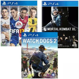 Игра Mortal Kombat XL PS4+ Игра FIFA17 за PS4, Playstation 4+Игра Watch Dogs 2 за Playstation 4
