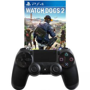 Геймпад - Sony PlayStation DualShock 4 Wireless+Игра Watch Dogs 2 за Playstation 4