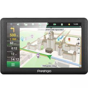 Prestigio GeoVision 5066, 5.0 инча, TFT, 800х480, Win CE 6.0, 128 MB RAM, 4 GB internal, FM, 950 mAh, Сив