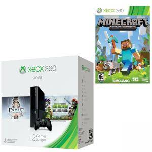 Microsoft Xbox 360 500GB + Plants vs Zombies + Fable Anniversary