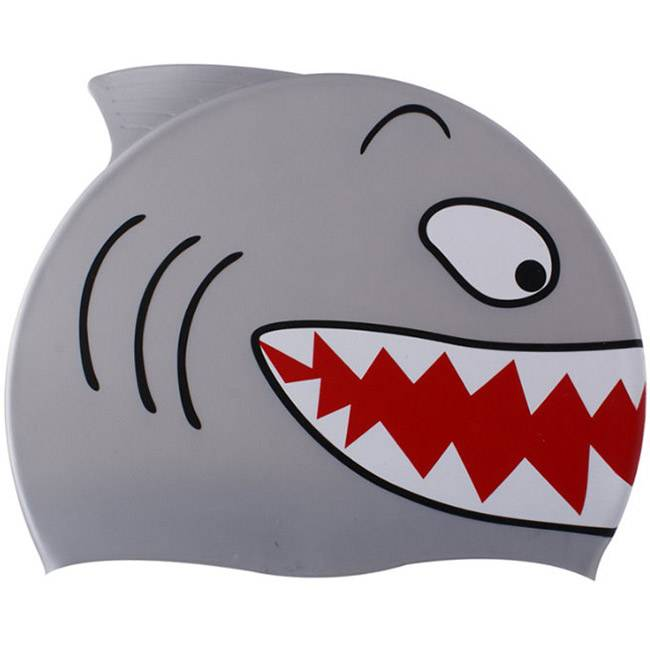 0c917e68836 Детска шапка за плуване Shark, Spurt, 6480113089. Цвят: Сив ...