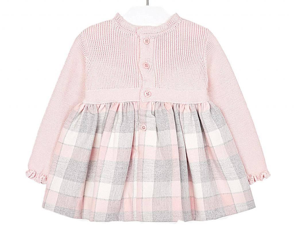 b584f196948 Плетена рокля с дълъг ръкав Mayoral, розово-сива, момиче, 12 м.