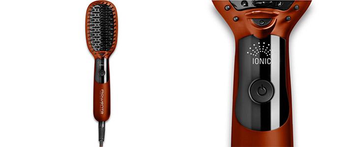 Електрическа четка за коса Rowenta CF5710F0, 35 W, 210° C, Йонизираща функция, Керамично покритие, Автоматично изключване, Червена