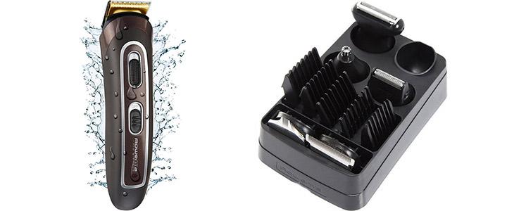 Водоустойчива машинка за подстригване, Rowenta - Trim and Style, титаниеви ножчета, до 60 минути безжична работа, кафява, TN9160F0