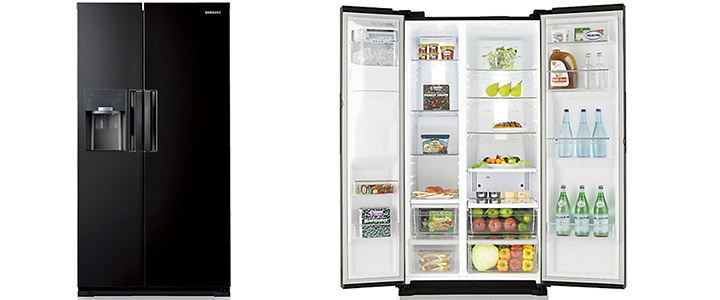 0bca6754a61 Хладилник Samsung Refrigerator - Side by Side, общ капацитет 545 литра, Ice  Maker, Диспенсър за вода, ...