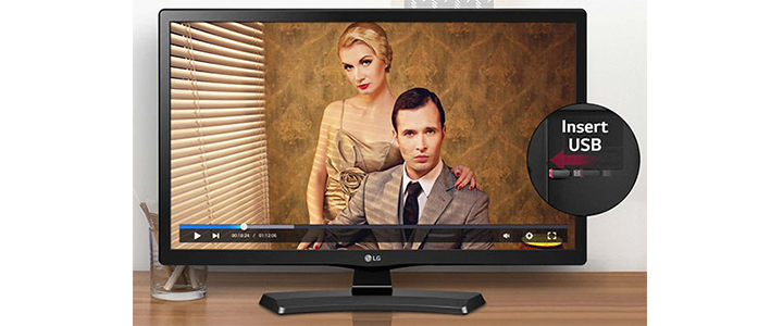 Монитор LG 24MT49DF-PZ, 23.6 инча, VA, LED, 5ms GTG, 1366x768, HDMI, CI Slot, TV Tuner, USB 2.0, 24MT49DF-PZ