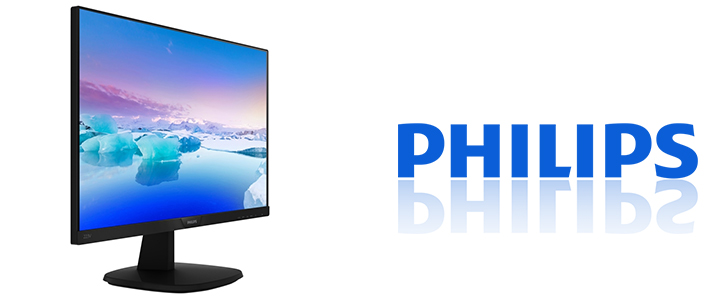 Монитор Philips 223V7QHSB, 21.5 инча, LED IPS, Anti-Glare, 1920x1080, 5ms, 223V7QHSB/00