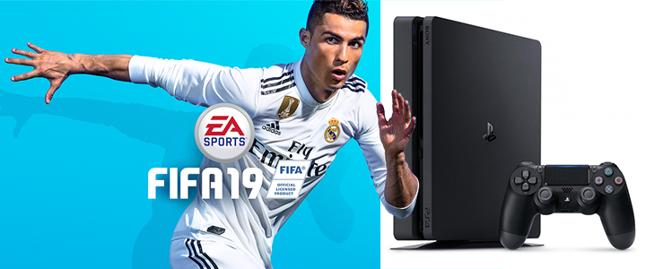 Конзола 500GB FIFA 19 Bundle with Ultimate Team Icons and Rare Player Pack (PS4)