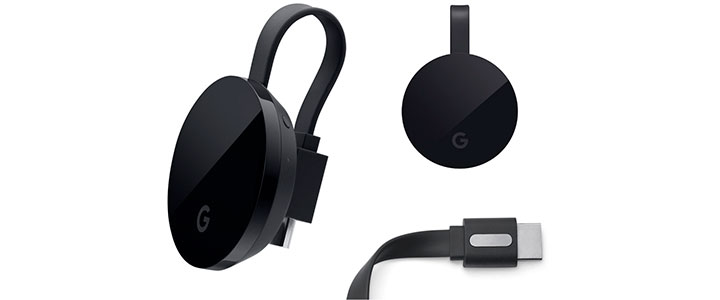 Мултимедиен плеър Google Chromecast Ultra 4k, GOOGLE-CHROMECAST-ULTRA